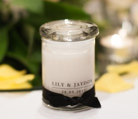 Candle Bomboniere – Metro Jar Style Medium